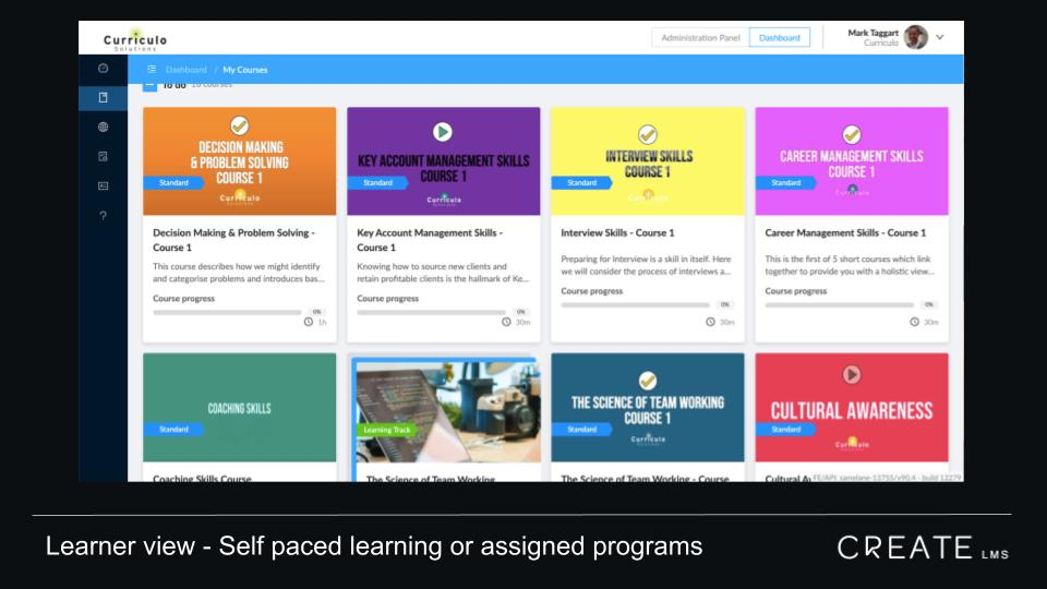 CreateLMS is designed for training companies who want to move online
