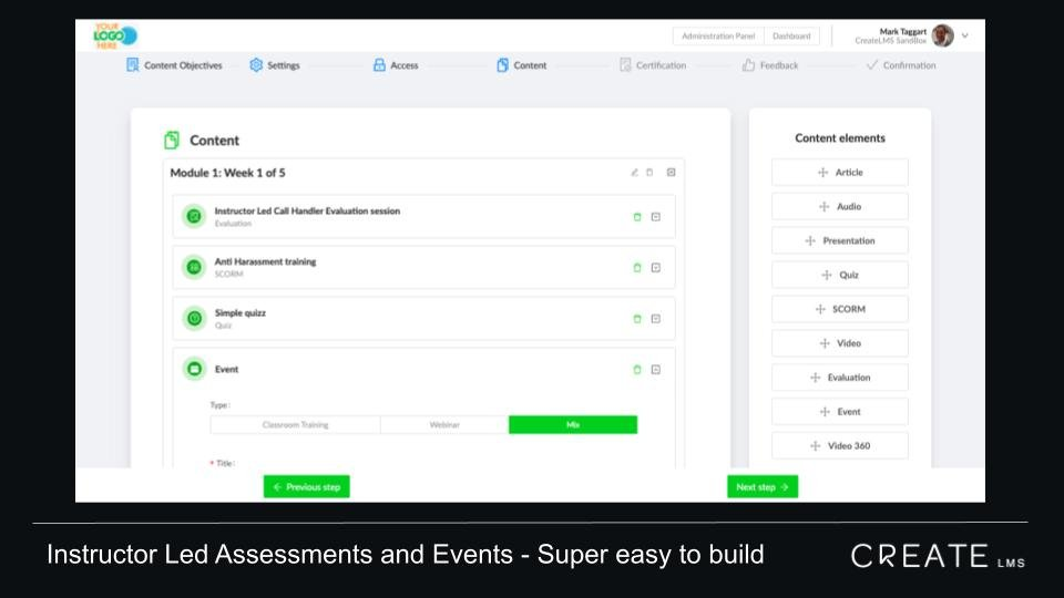 CreateLMS is makes it easy to deploy instructor led assessments